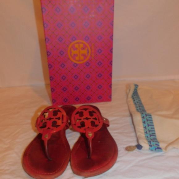 Red Tory Burch Sandals Slides | Poshmark